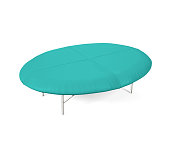 Oval Shaped Leather Padded Foot stool