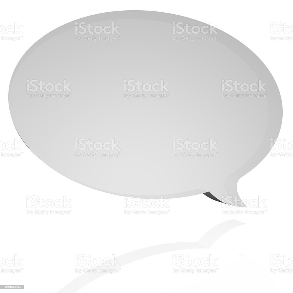 Oval speech balloon stock photo