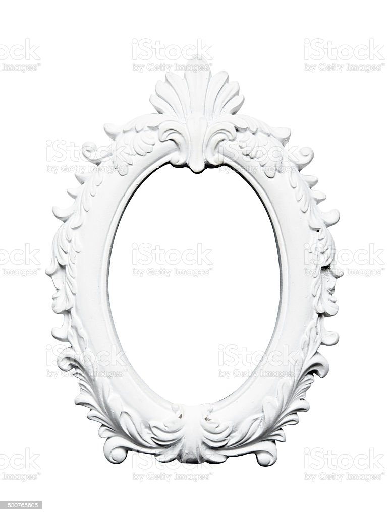 Oval vintage art frame stock photo