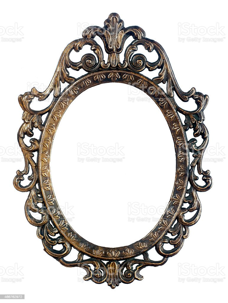 Oval vintage frame stock photo