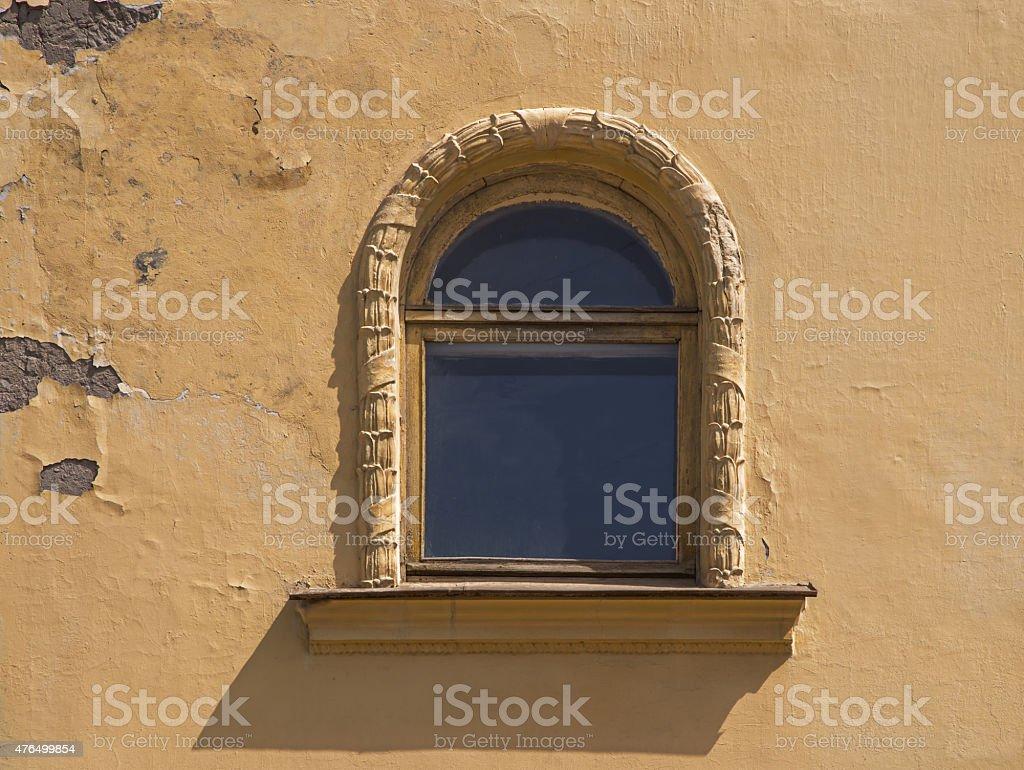 oval window cornice. stock photo