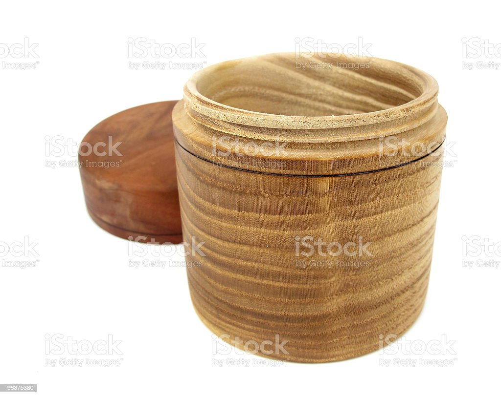 Oval wooden box royalty-free stock photo