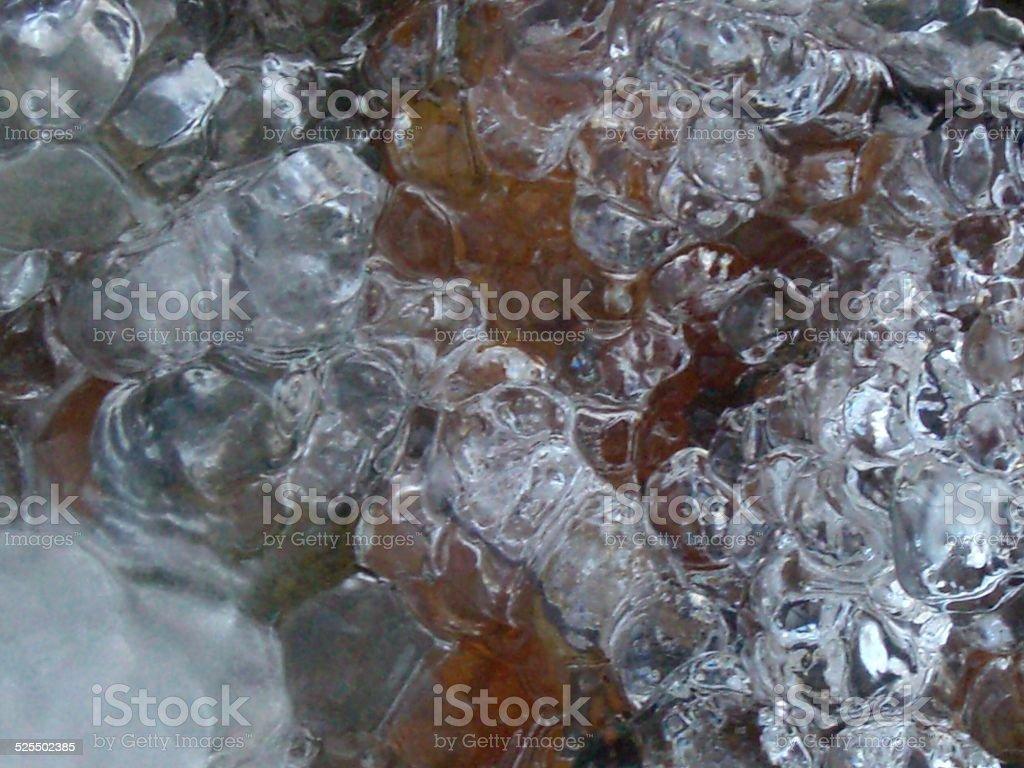 Ovals of Ice stock photo
