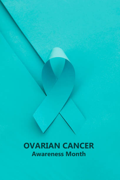ovarian  cancer awareness  month - ovarian cancer ribbon stock pictures, royalty-free photos & images