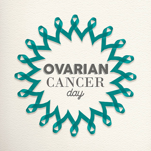 ovarian cancer day awareness design made of ribbon - ovarian cancer ribbon fotografías e imágenes de stock