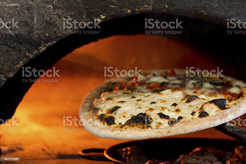 Oven Baked Pizza stock photo