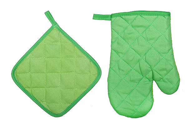 oven glove and potholder stock photo
