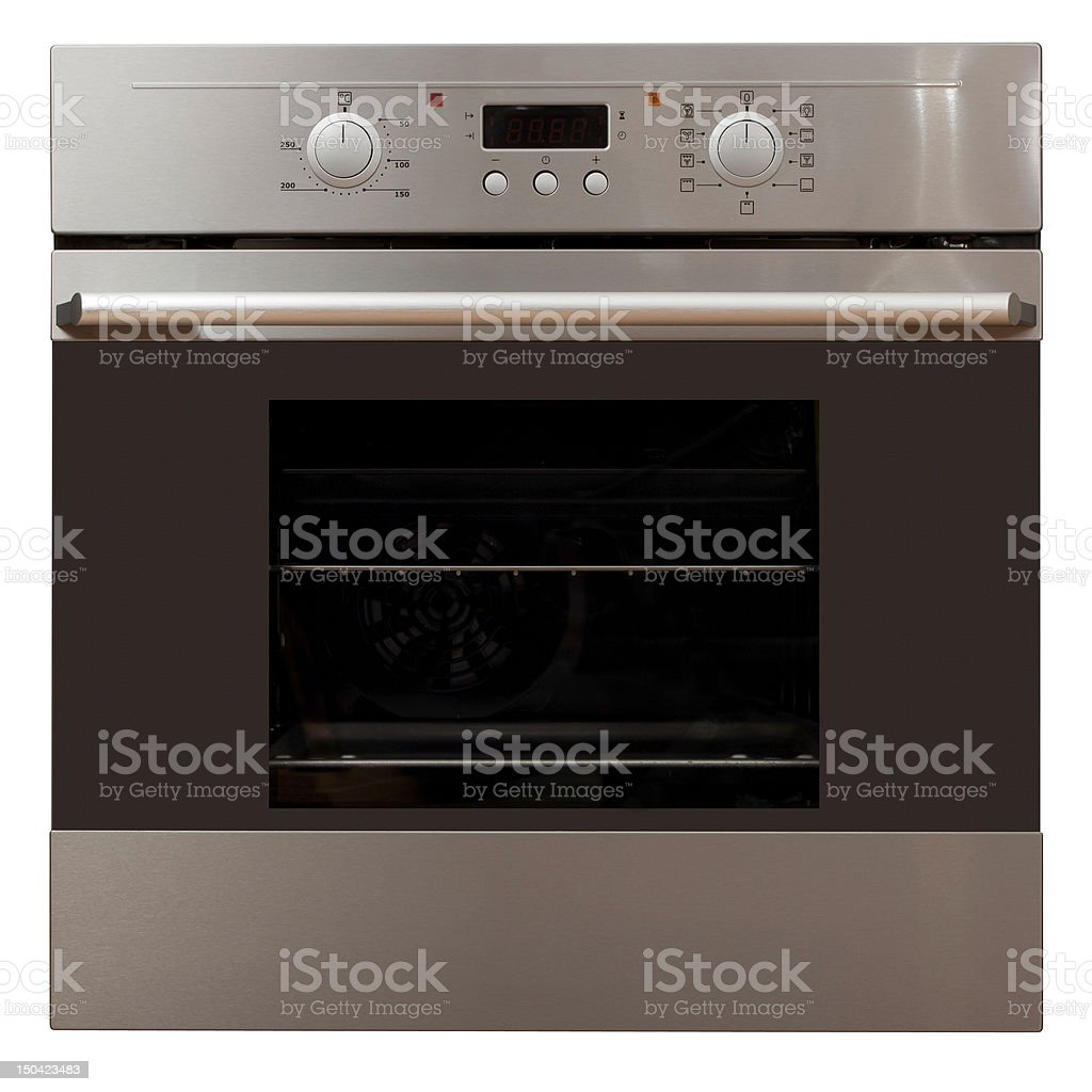 Oven in stainless steel finish stock photo