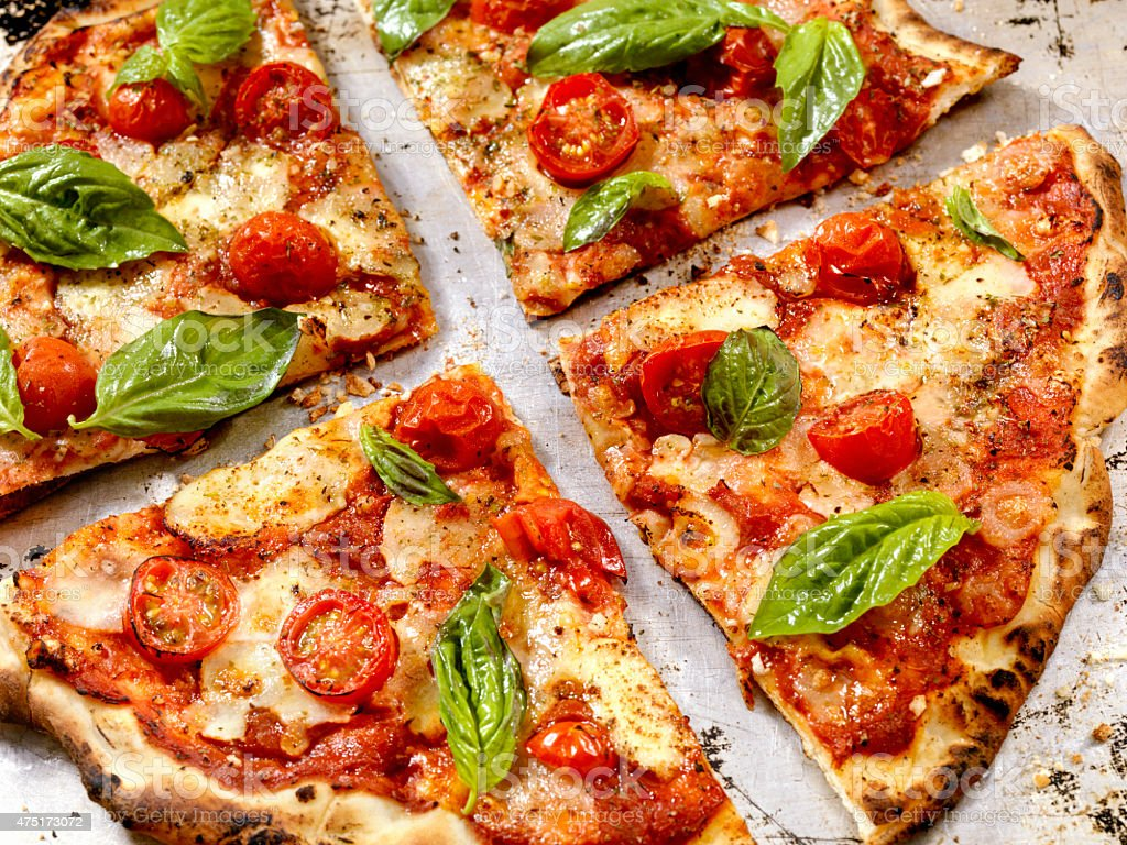 Forno Oven Pizza, Margherita Pizza stock photo