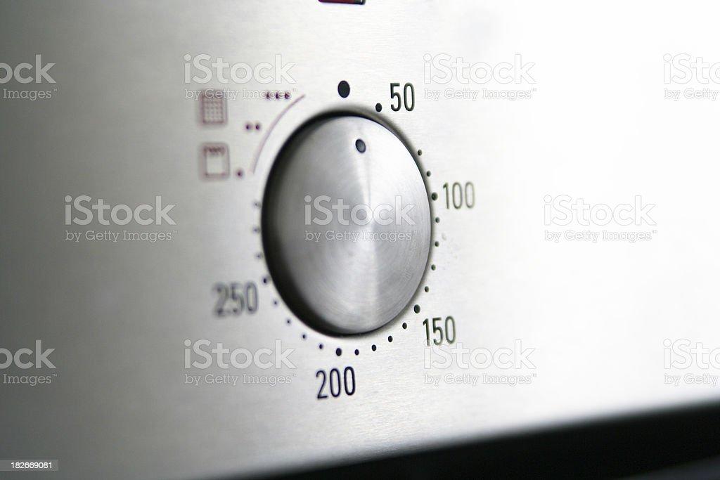 Oven temperature stock photo