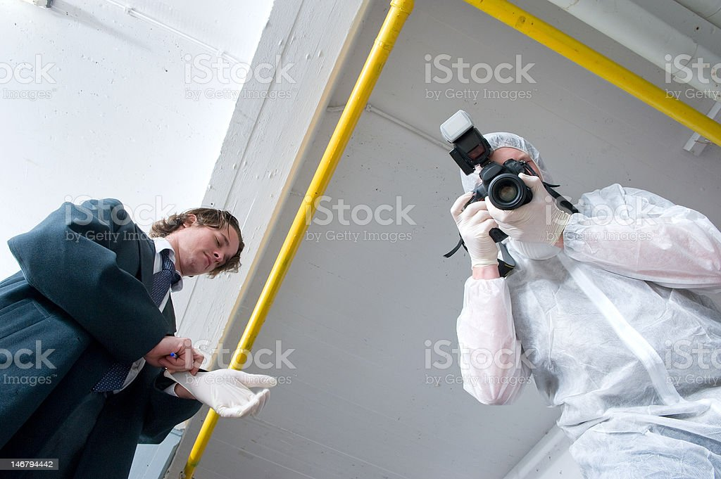 Over a dead body stock photo