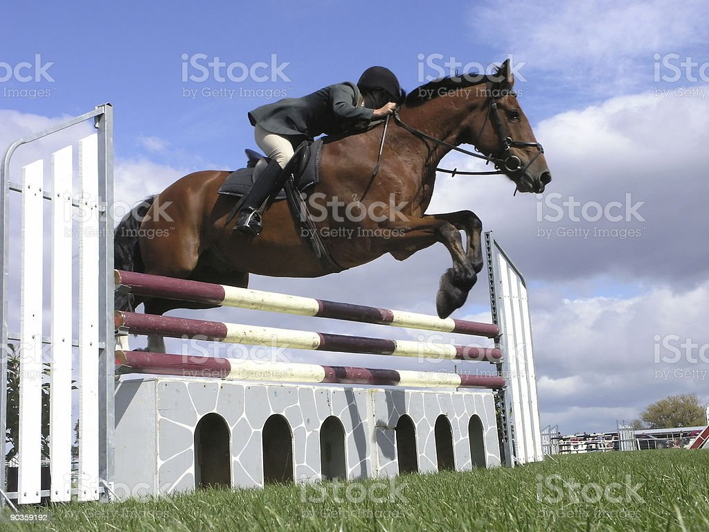 Over a Jump royalty-free stock photo