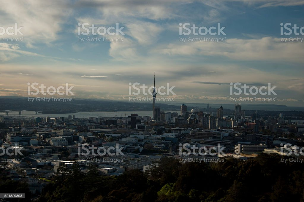 Over Auckland stock photo