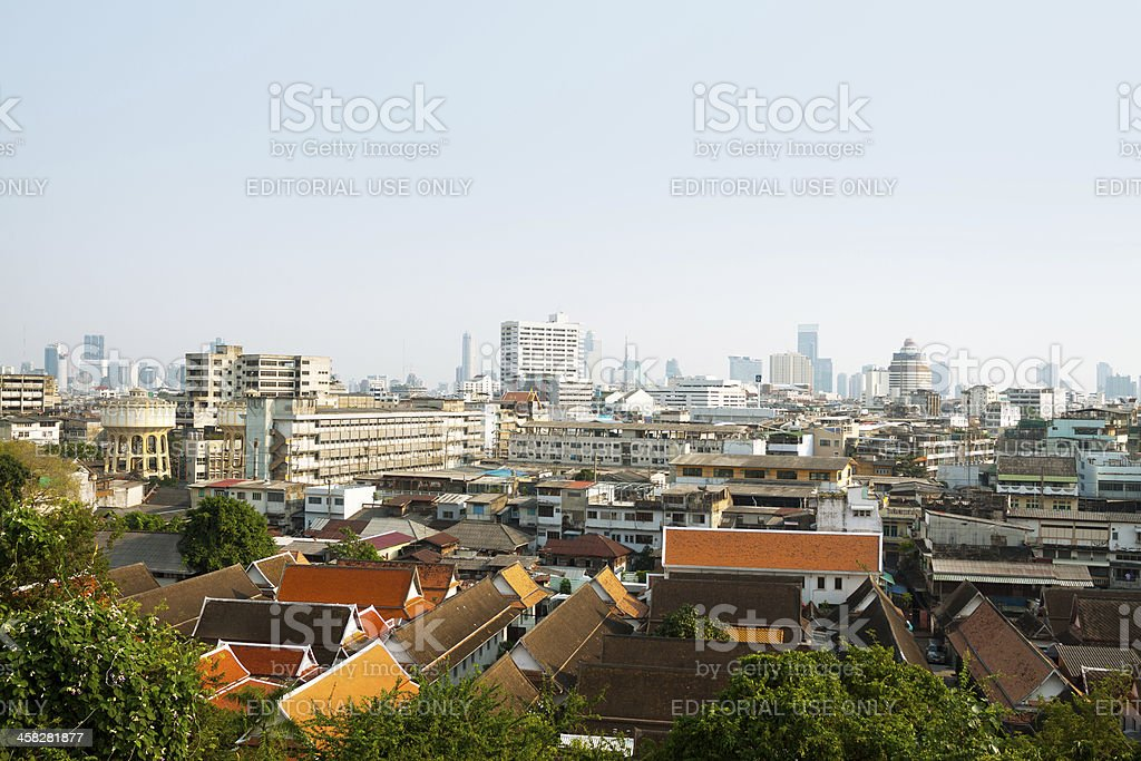Over Bangkok royalty-free stock photo