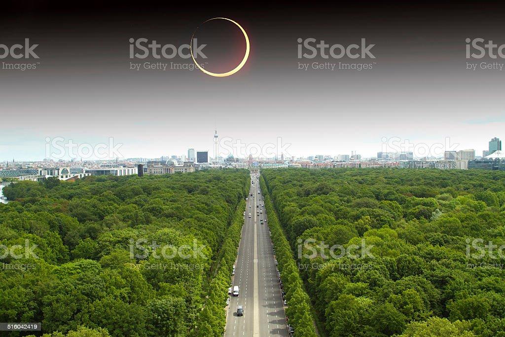 over Berlin stock photo