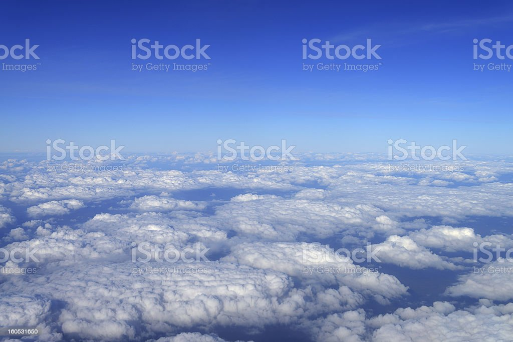 over clouds royalty-free stock photo