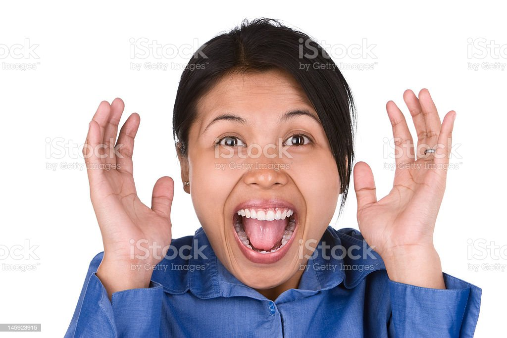 Over exited royalty-free stock photo