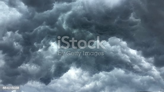 istock Over head Shot of rain cloud ; weather change 884015038