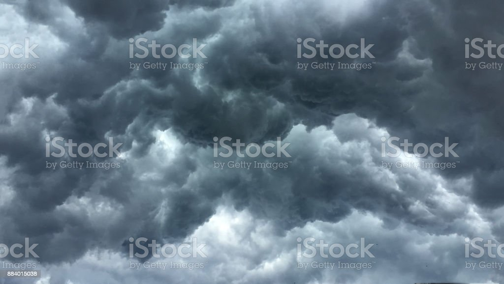 Over head Shot of rain cloud ; weather change stock photo