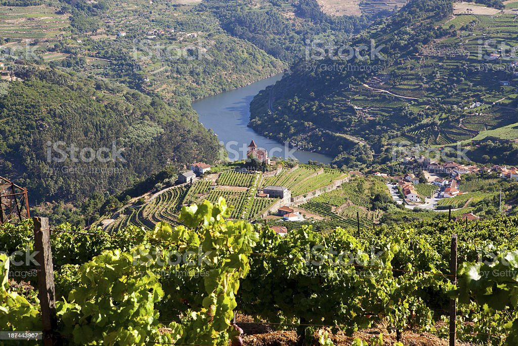 Over head view of Douro valley stock photo