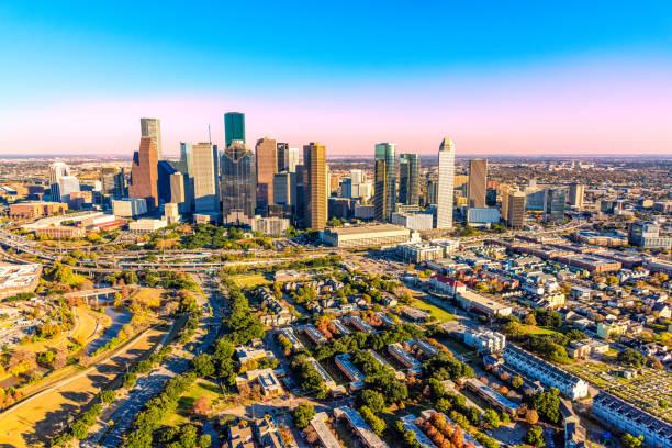 Over Houston stock photo