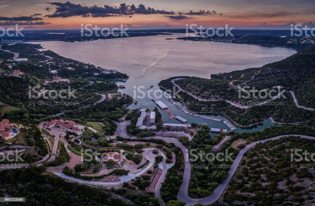 Over Lake Travis, Texas zbiór zdjęć royalty-free