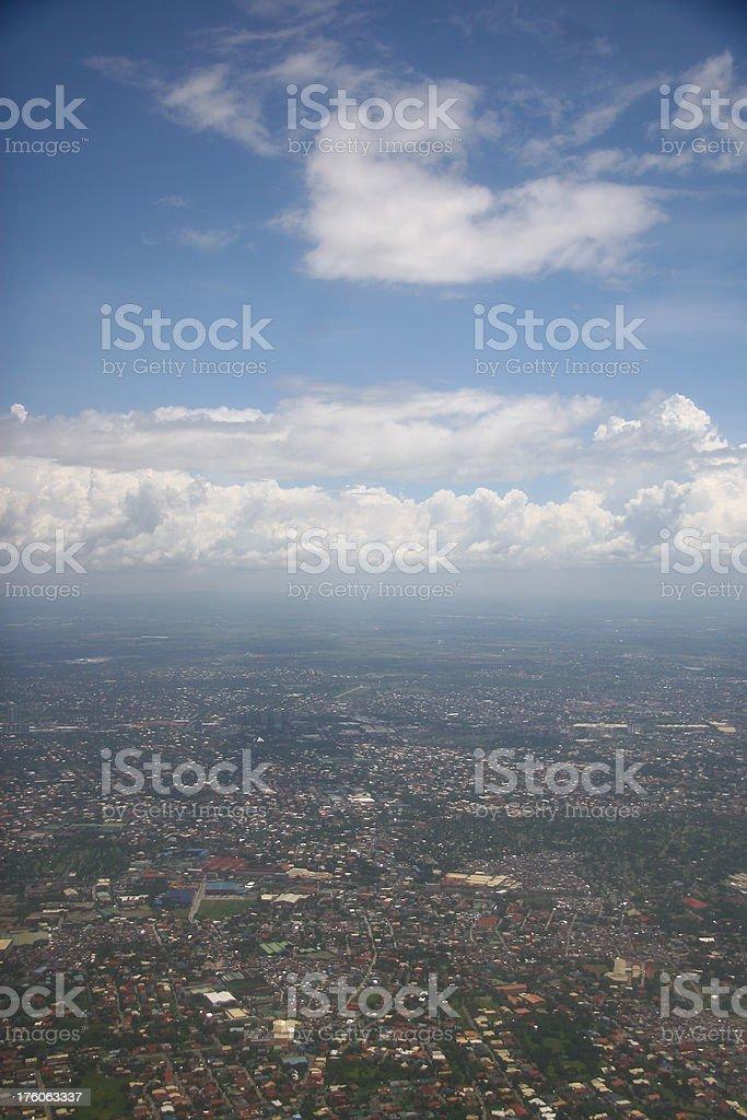 Over Manila royalty-free stock photo