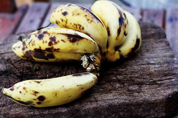 Over ripped bananas stock photo