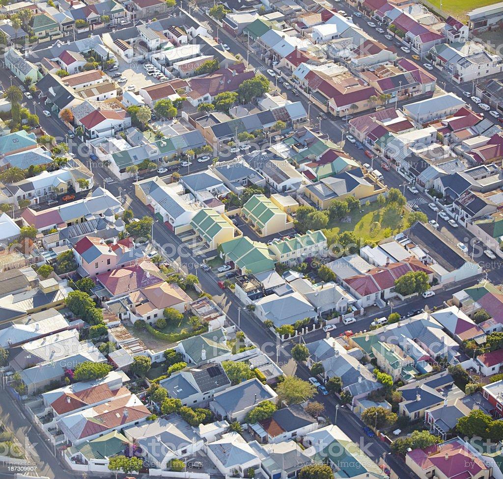 Over suburbia royalty-free stock photo