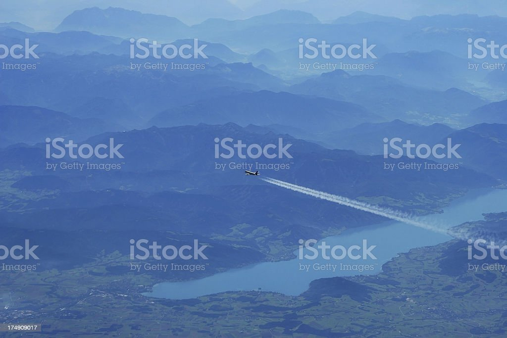 Over the Alps royalty-free stock photo