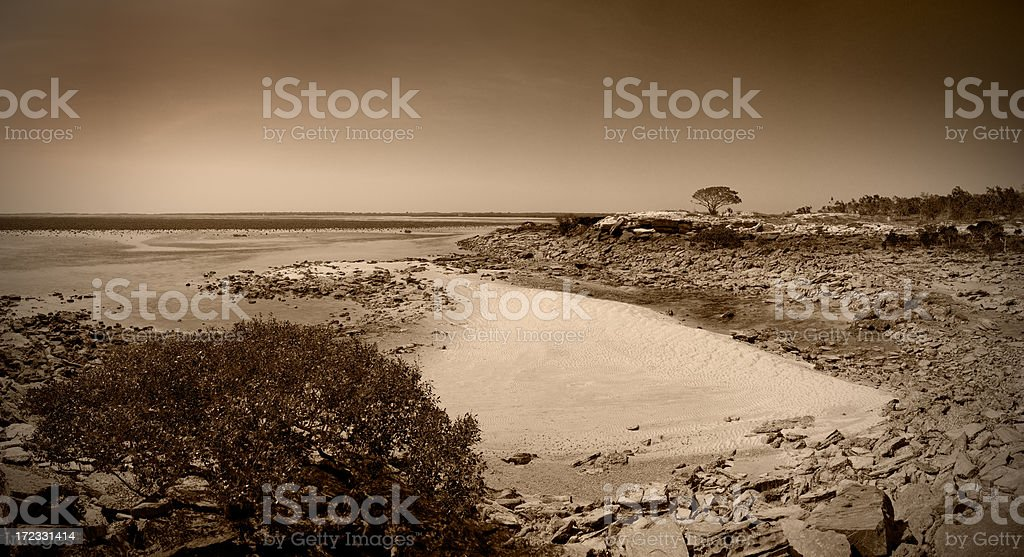 Over the Bay to One Arm Point royalty-free stock photo