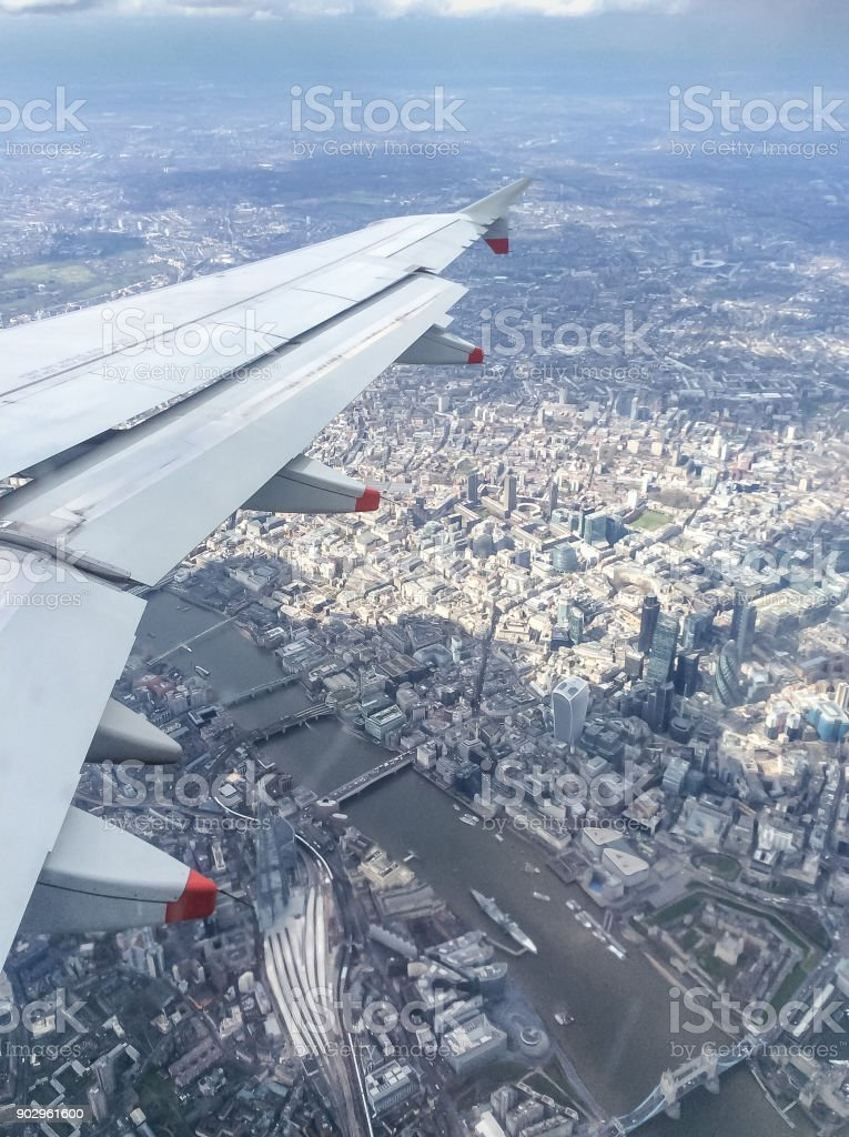 Over the City of London stock photo