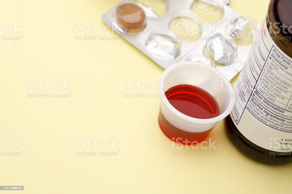 Los medicamentos de venta libre (Over the Counter - foto de stock