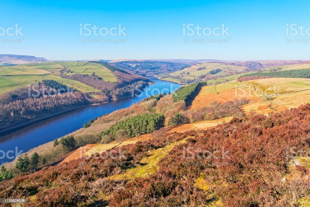 Over the Derwent Valley to the Derwent Dam stock photo