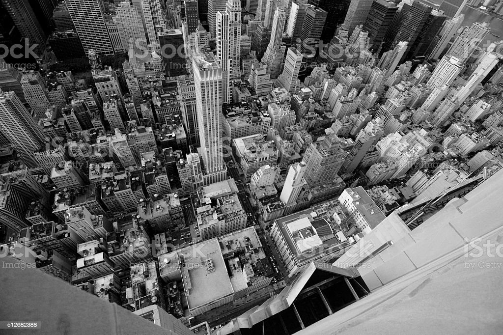 Over the edge at Empire stock photo