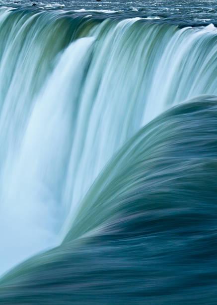 Over the Edge, Niagara Falls Waterfall, Vertical stock photo