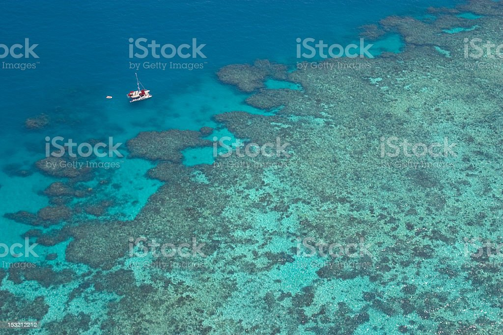 Over the Great Barrier Reef stock photo