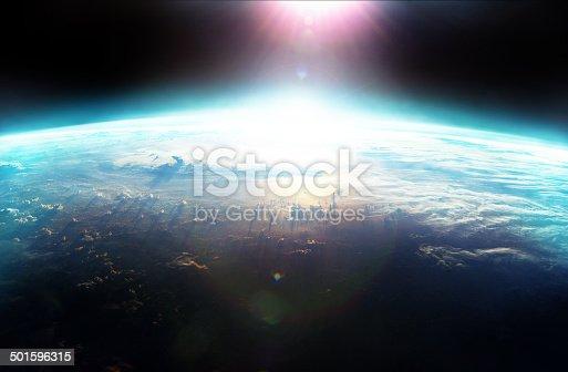 istock Over the horizon a new dawn breaks 501596315