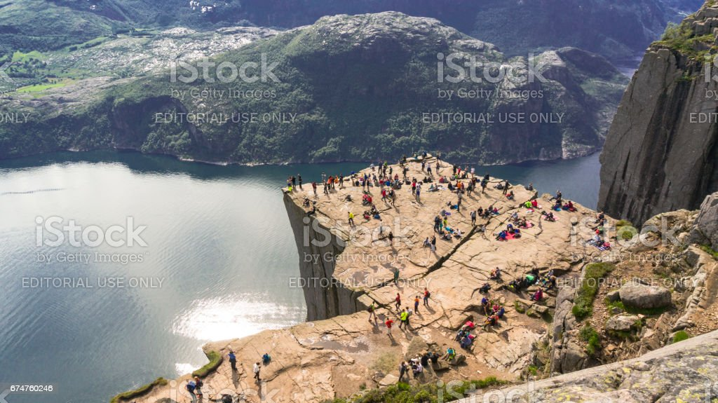 Over the Lysefjord, Norway stock photo