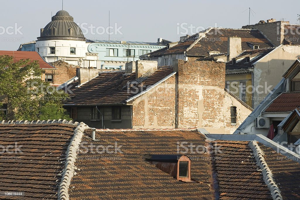 Over the roofs from Sofia royalty-free stock photo