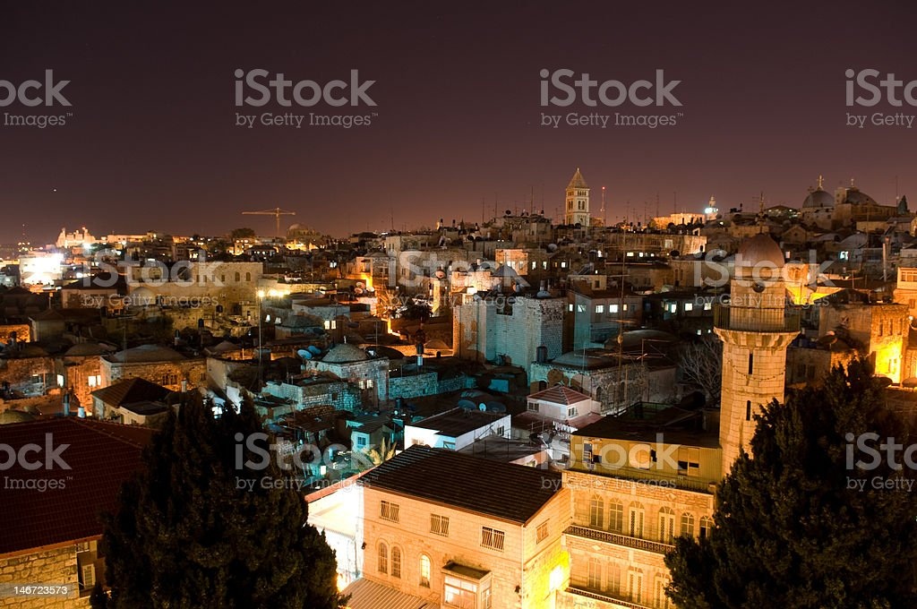 Over the roofs of Jerusalem royalty-free stock photo
