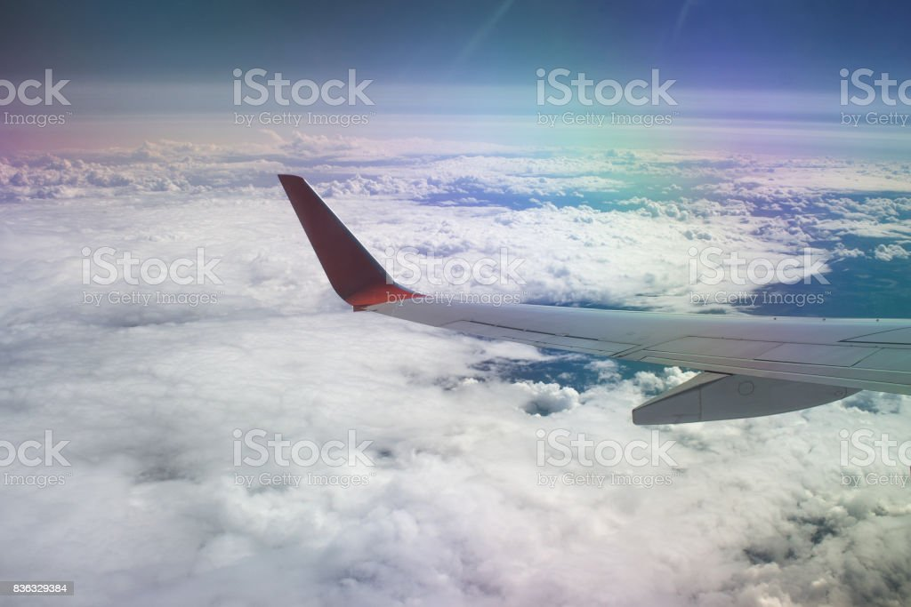 Over the sea of clouds stock photo