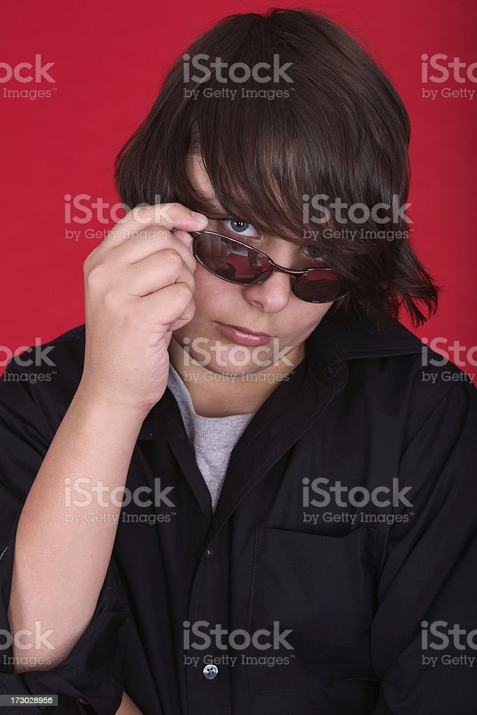 Over the shades. royalty-free stock photo