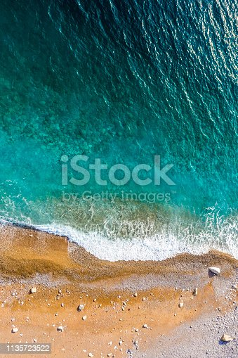 999001484 istock photo Over the top view of a beautiful emerald-colored beach 1135723522