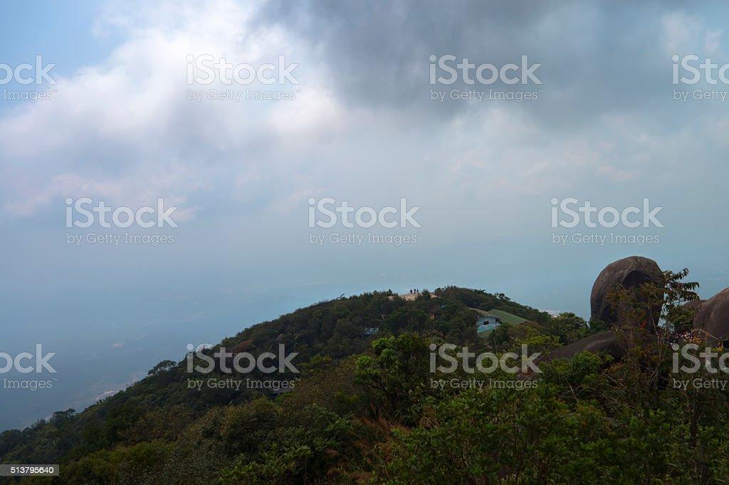 Over the Wat Khao Khitchakut Phawanaram stock photo
