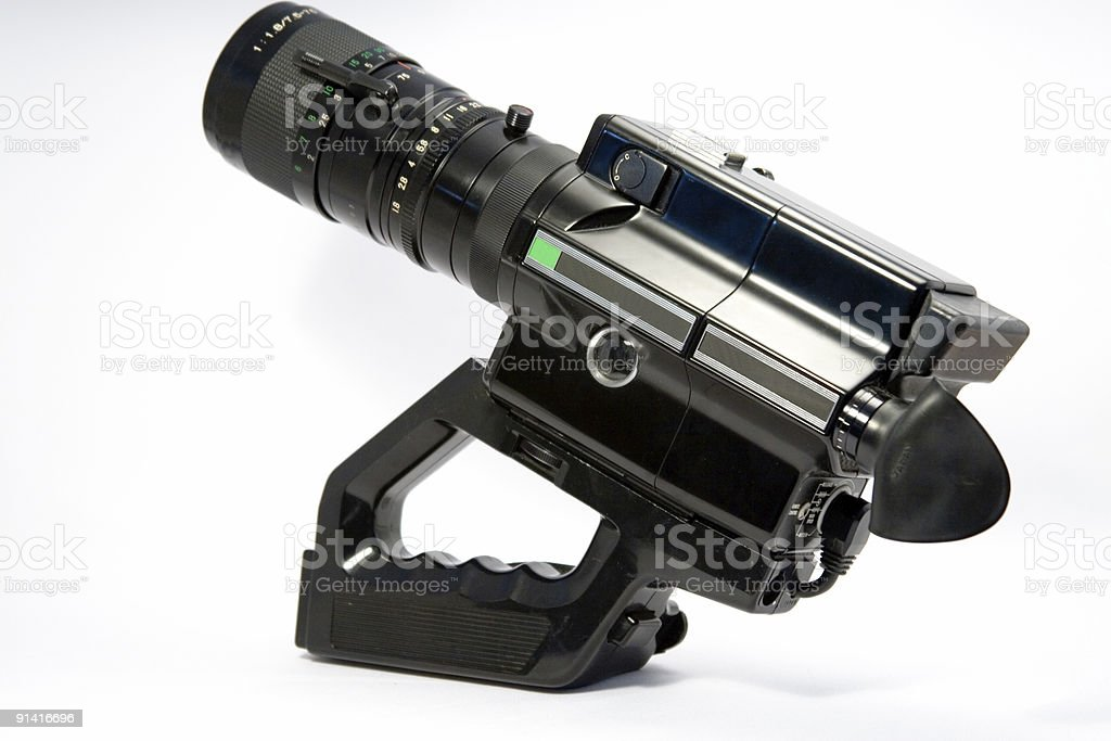 overal shot old 8mm videocamera stock photo