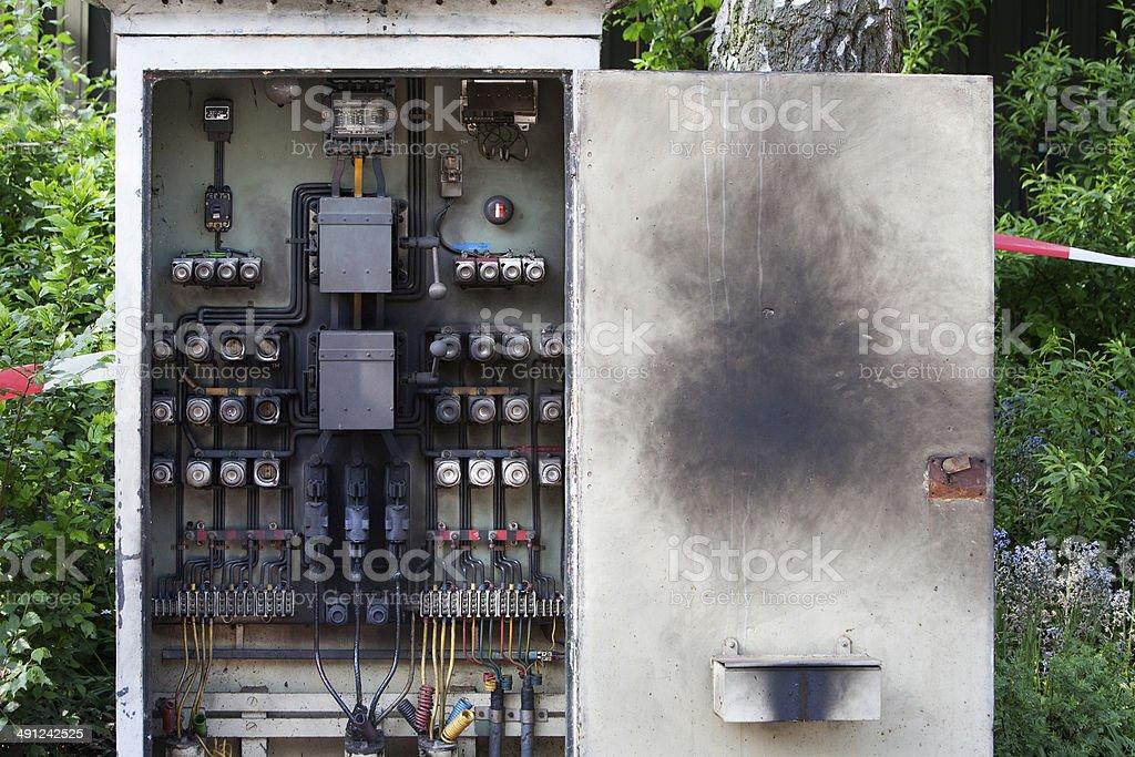 Overburdened circuit board foto