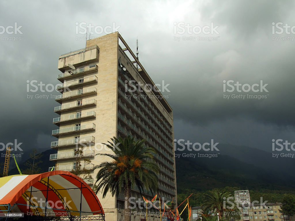 overcast at the resort royalty-free stock photo