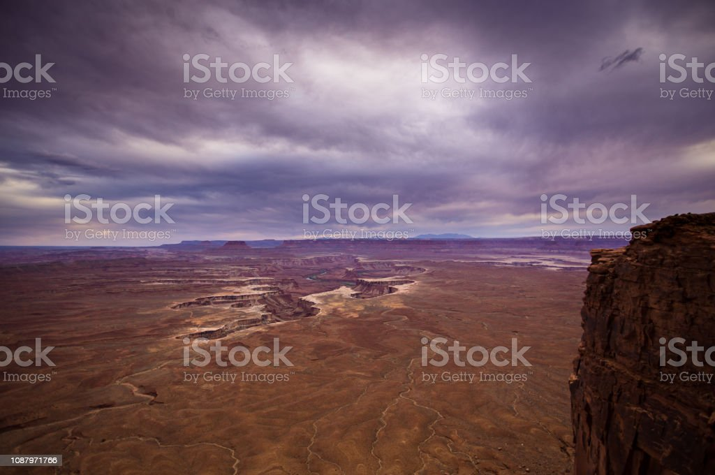 Overcast Day in Canyonlands National Park stock photo