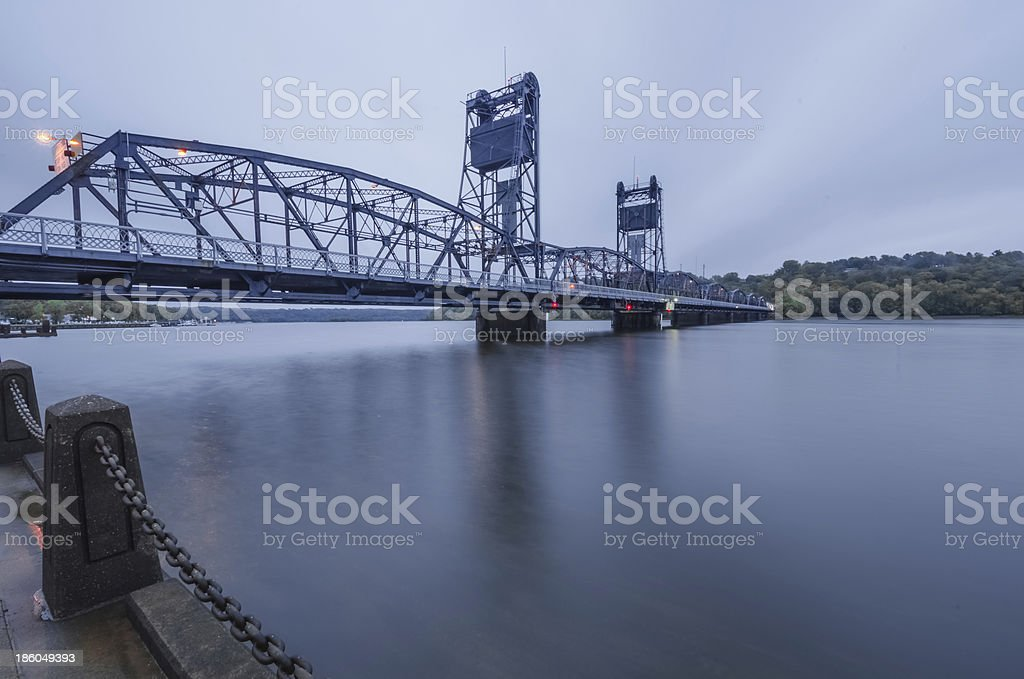 Overcast Morning at Stillwater stock photo